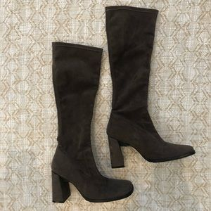 Davos Gomma brown suede leather boots size 37